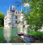 stock-photo-pictorial-scene-with-castle-and-boat-loire-valley-from-my-castle-collection-18260560
