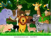 stock-vector-animal-in-the-jungle-51179977
